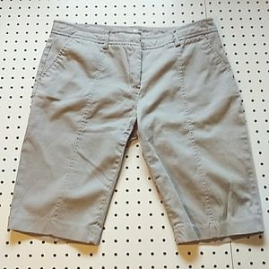 Dalia Collection Long Shorts, Light Gray, Size 10